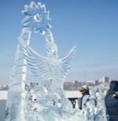 15 ледяных скульптур создали на фестивале «Удмуртский лёд» в Ижевске