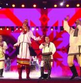 Мордовский ансамбль «Торама» исполнил «Гимн болельщиков» на Красной площади
