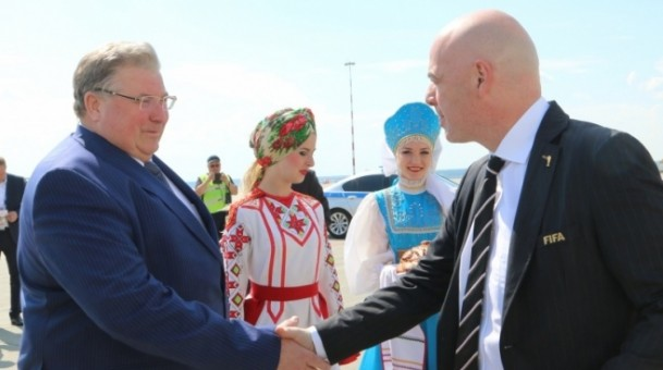 Президент FIFA посетил матч ЧМ-2018 в Саранске