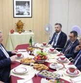 Глава Мордовии Владимир Волков провел встречу с официальной делегацией Португалии