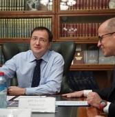 Соятоялась рабоча встреча Главы Удмуртской Республики Александра Бречалова и Министра культуры Российской Федерации